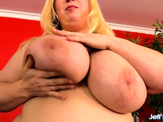 Broad in the beam boobed plumper shows their way succulent jugs pussy increased by bore She