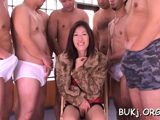 Japan lady gets 2 folks to bang her whilst on duty