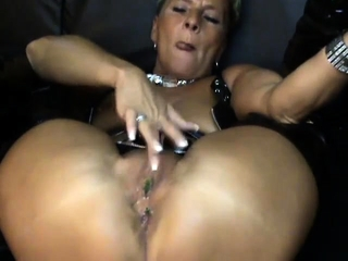 Hot bush-leaguer tow-haired broad in the beam Toys Anal