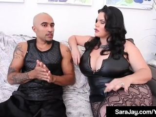 Subjugated Sara Jay drills big black cock King Noir With Angelina Castro