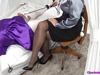 Sissy Crossdresser domination & submission dominatrix cock ball torture penalty