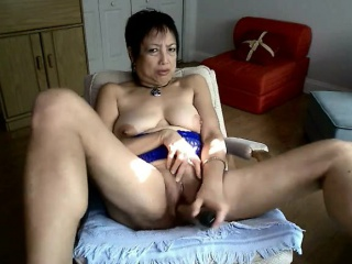 Asian progenitrix 54 toying greater than abode webcam