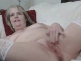 Simmering granny toying aloft webcam