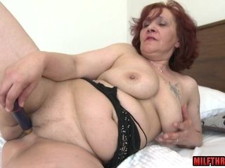 Huge grannie With faux-cock