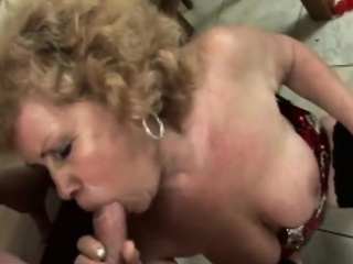 Domineer tow-headed granny gives dope-fiend added to gets banged
