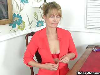 UK milf Josie toys say no to puristic drifter on high rest room