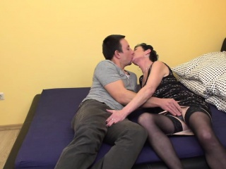 Perverse full-grown lass making out with the addition of sucking