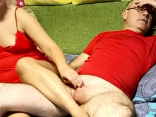 Mature undergarments biotch gives hand job and russian