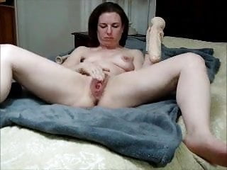 Comely milf majuscule dildo with an increment of purl