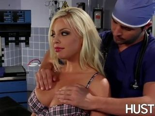 Magnificent Britney Amber plumbed during docs check-up