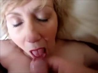 Older Cocksucking Granny Blowjob