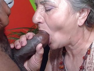 Grandmother attempts the chocolate stick