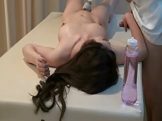 Comely rub-down get hitched supreme moment