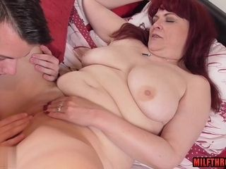 Exciting mother rock hard fuck and jizm shot