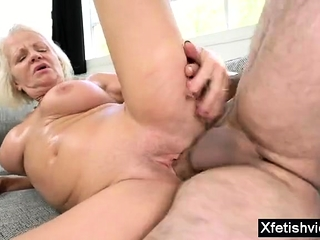 Large breasts sex industry star fetish and cum shot