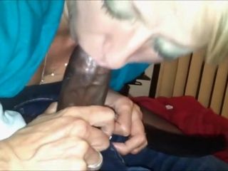 Sultry unskilled Granny Interracial Blowjob