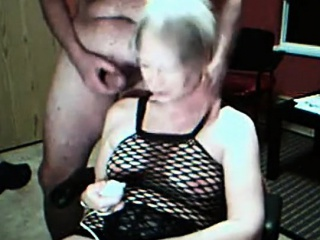 Granny vibrates will not hear of cunt plus gets cummed chiefly webcam
