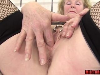 Lustful grandmother With Pierced cunt