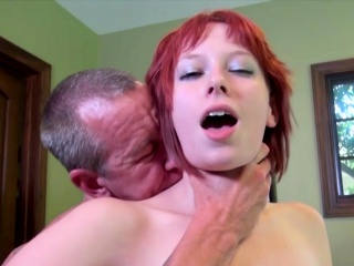 Ginger-haired Zoey Nixon fuckbox plumbed by mature dude