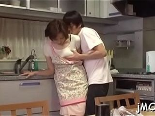 Abnormal chinese aged eats her paramour all over his bod