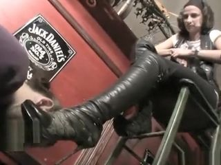 Youthful and tall dominatrix maria is not glad and orders slave(2011)