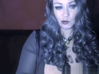 Huge-boobed Witch Samantha 38g costume play on live web cam display archive displaying ginormous breast