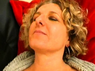 French matured Lou takes moonless cocks
