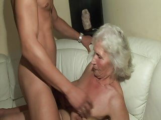 The very first time he nails a steaming grandma!