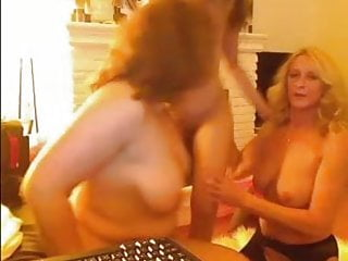 First-timer mature lesbos on cam