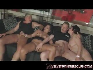 Velvet Swingers take it on the lam bungling maters orgy chasing making love