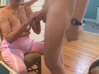 Flagitious granny sucks my over-nice hollow out yon preference