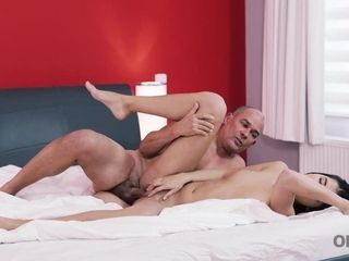 OLD4K. Jaw-dropping dad and nymph experience molten lovemaking in varous..