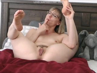 Incredible brief Hair cougar with Glasses Caught jacking