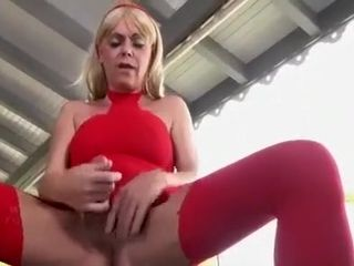 Overwhelming homemade shemale integument close by Stockings, Cumshot scenes
