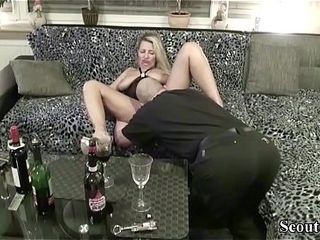Neighbour inveigle German MILF yon leman with meal Tasting