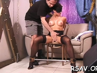 Mature whore likes getting her enchanting bra-stuffers squashed