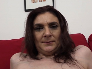 Wild mature dark haired gets the big black cock to jizz on her face