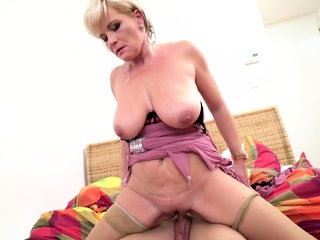Sweltering housewife Margaux carrying out their way toyboy